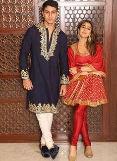 Sara Ali Khan & Ibrahim's Knock-Knock Jokes Remind Us Of Our Silly Sibling Moments Asian Wedding Dress Pakistani, Pakistani Formal Dresses, Indian Dresses, Indian Outfits, Diwali Outfits, Bollywood Outfits, Bollywood Fashion, Bollywood Style, Bollywood Actress