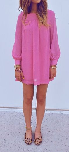 Loving this H&M fuschia dress