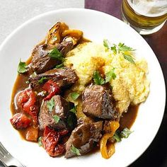 Beef Sirloin Tips with Smokey Pepper Sauce - 100 Calories