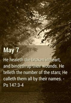 Psalm 147:3-4 KJV
