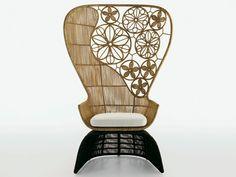 CRINOLINE High-back garden armchair by B&B Italia