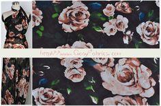 Stoff retro - Chiffon,Seide,Stoff Rosen,Stoff retro,Stoff Blumen - ein Designerstück von FabricMade bei DaWanda