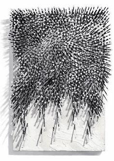 Günther Uecker | Abgesunkene Stuktur, 2012 | nails and acrylic on canvas