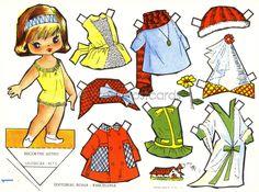 Gallarda Vintage Paper Doll Sheet, Big Eyed Paper Doll wit… | Flickr - Photo Sharing!