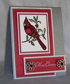 Metallic Cardinal Christmas