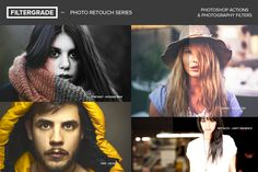 Photo Retouch Series Photoshop Actions - FilterGrade: Photoshop Actions
