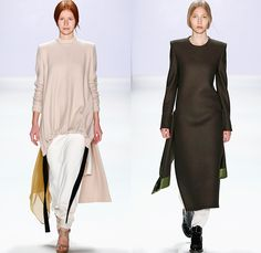 Annelie Schubert 2016 Spring Summer Womens Runway Catwalk Looks - Presented by Mercedes-Benz and Elle - Mercedes-Benz Fashion Week Berlin Germany Deutschland - Tiered Wool Deconstructed Roll Neck Furry Chunky Knit Ribbed Pants Trousers Sheer Chiffon Tulle Hanging Sleeve Dress Skirt Frock One Piece Sweaterdress