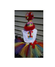 Personalized Rainbow Tutu Cake Smash set by DoodlesDotsnDimples Tutu Cakes, Rainbow Tutu, Birthday Party Hats, Cake Smash, Doodles, Christmas Ornaments, Holiday Decor, Dots, Stitches