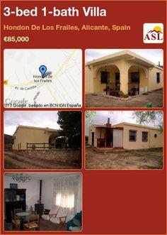 3-bed 1-bath Villa in Hondon De Los Frailes, Alicante, Spain ►€85,000 #PropertyForSaleInSpain