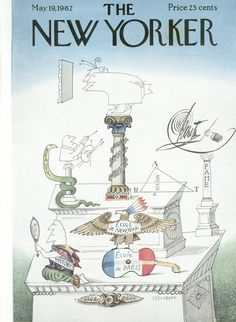 The New Yorker - Saturday, May 19, 1962 - Issue # 1944 - Vol. 38 - N° 13 - Cover by : Saul Steinberg
