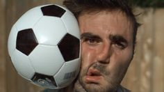 Dan Gruchy of The Slow Mo Guys Takes a Water-Filled Soccer Ball to the Face at 28,000 FPS