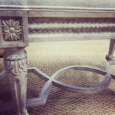 charming detail on a bench in the store