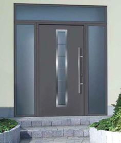 Hormann garage doors in London, sectional garage doors, and Hormann sectional DIY - Garage Door Supplier Front Door Entrance, House Front Door, House Doors, Hormann Garage Doors, Contemporary Front Doors, Contemporary Design, Sectional Garage Doors, Modern Exterior Doors, Door Sets