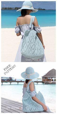 Diamond Stitch Tote Bag Free Crochet Pattern – Roseli Dobre – Join in the world of pin Crochet Beach Bags, Bag Crochet, Crochet Handbags, Crochet Purses, Crochet Patterns For Beginners, Easy Crochet Patterns, Crochet Ideas, Sombrero A Crochet, Single Crochet