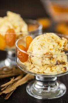 Ice Cream 1, Fresh Cream, Dried Apricots, Sweet Memories, Ice Cream Recipes, Presentation, Restaurant, Fancy, Meals