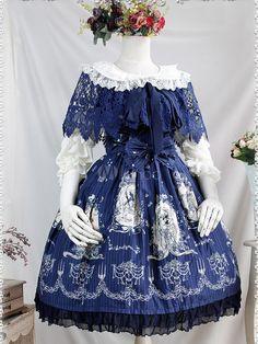 Vêtement de lolita en coton creusé doux avec dentelle et nœud - Milanoo.com