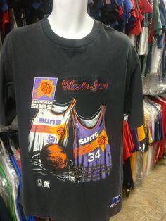 89ae24213 Vintage 90s PHOENIX SUNS NBA Nutmeg T-Shirt L