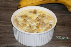 BUDINCA DE MAR SI BANANA - Flaveur Healthy Desserts For Kids, Healthy Recipes, Healthy Food, My Fitness Pal, Cheeseburger Chowder, Macaroni And Cheese, Food And Drink, Soup, Tasty