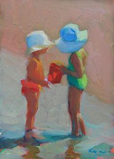 Sunhat Sisters: Maryann Lucas, oil