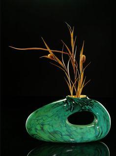 The Jade Bolinas by Bernard Katz Glass. #handblown #artglass #sculpture