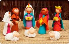 fimo nativity! Must try this! :)