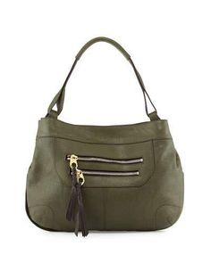 Oryany Sandy Leather Hobo Bag, Forest  ON SALE: Was $560.00 Reduced to: $336.00  40% OFF