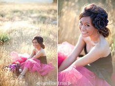 tweekleurige-trouwjurk - je ziet er alleen weinig van op de foto...