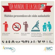 #DiaMundiaDeLaSalud, Hábitos de vida saludable. Prevención. Salud