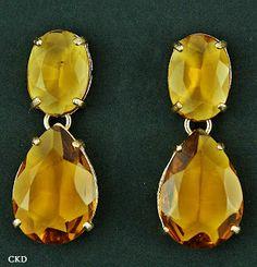 Brincos com maxi cristais citrino!! www.ckdsemijoias.com.br