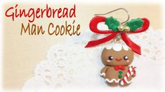 Christmas Gingerbread Man Polymer Clay Tutorial