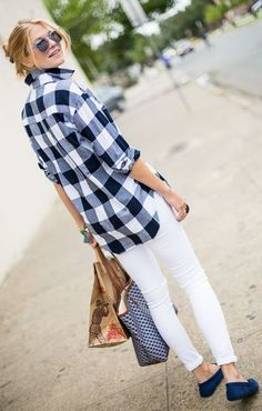 Black And White Checkered Button Down by A Piece Of Toast