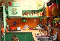 retro kitchen red - Google Search