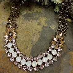 Sorrelli Riverstone Collection. Statement Necklace with desert flowers. Bohemian Glamour at it's best. https://perfectdetails.com/NDA1AGRIV.htm