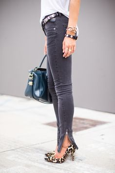 Zippered Jeans
