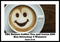 Welcome to the Two Rivers Coffee Deluxe Coffee Tea and Cocoa Gift Box Giveaway! Hosted by: Michigan Saving and More Sponsored by: Two Rivers Coffee 4 Winners will each win 1 – TRC Deluxe Coffee, Tea and Cocoa, Single Serve Gift Box Contains an assortment of dark, medium, and light roast coffees, holiday flavored coffees, …