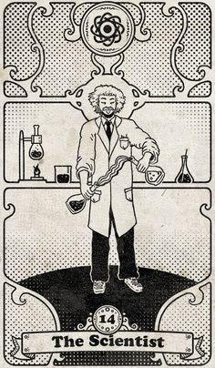 Tarot 108: 14 - The Scientist by SKoziner.deviantart.com on @DeviantArt