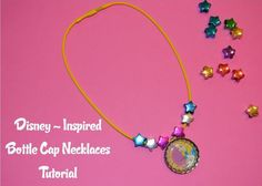 How to make Disney-themes bottle cap necklaces