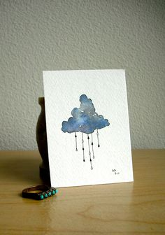 Cloud Watercolour Painting by Gabrielle Rose
