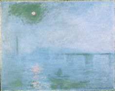 Claude Monet, Charing Cross Bridge: Fog on the Thames, 1903, Harvard Art Museums/Fogg Museum.