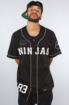 The Team Ninja Squad Jersey in Black by RockSmith