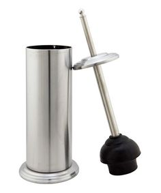 Take a look at this Stainless Steel Contemporary Plunger & Holder by Kennedy Collection on #zulily today!