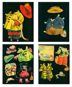 1950 Vintage Animal Paper Dolls Saalfield 2598 by EvelynnsAlcove, $15.00
