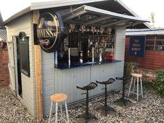 Backyard Pavilion, Backyard Bar, Backyard Sheds, Patio Bar, Backyard Patio Designs, Pool Bar, Diy Home Bar, Home Pub, Bars For Home