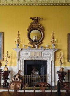 Dining room at Lough Cutra, in Count Galway, Ireland by architect John Nash, c1811-1817.