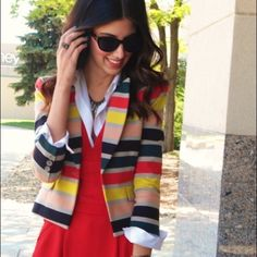 HPBCBG blazer This bold, colorful blazer is the perfect way to look professional while still showing off your personality! Used but in great condition. BCBGMaxAzria Jackets & Coats Blazers