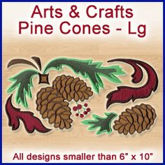 A Arts & Crafts Pine Cones Design Pack - Lg