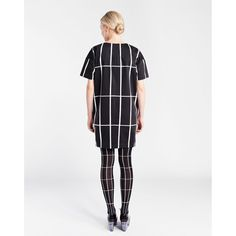 modern cocktail/shopping/year-round dress   Marimekko Hyps Black/White Dress - $278