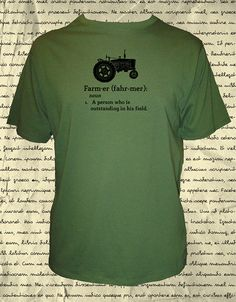 Farming Shirt - Mens Organic Farm Shirt - Tractor - Definition of Farmer Quote - Tshirt - 2 Colors - S, M, L, XL, - Tractor Gift Friendly on Etsy, 20,37 €