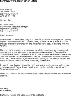 nurse case manager cover letter the example shows how to write a business letter for resume