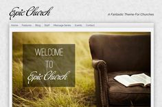 Here's a great WordPress theme for churches